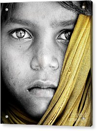 Eyes Of A Child Acrylic Print by Tim Gainey