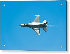 F-16 Full Speed Acrylic Print by Sebastian Musial