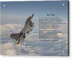 F16 - High Flight Acrylic Print by Pat Speirs