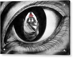 Face In Eye Acrylic Print by Stanislav Ballok