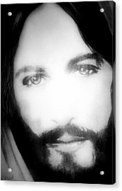 Face Of Jesus Acrylic Print by Susan  Solak