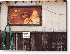 Faded Refreshment Acrylic Print by Scott Nelson