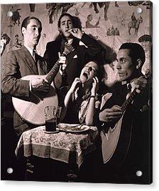 Fado Singer In Portuguese Night Club Acrylic Print by Everett
