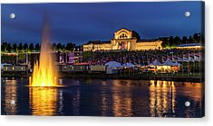 Fair Sy Louis In The Grand Basin Of Forest Park Acrylic Print by Garry McMichael