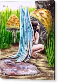 Fairy Amongst Poison Acrylic Print by Scarlett Royal