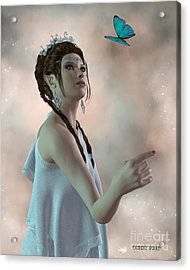 Fairy And Butterfly Acrylic Print by Corey Ford