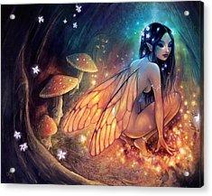Fairydust Nest Acrylic Print by Caroline Jamhour
