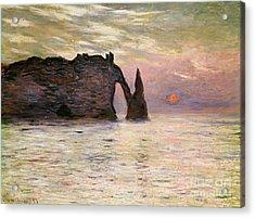 Falaise Detretat Acrylic Print by Claude Monet