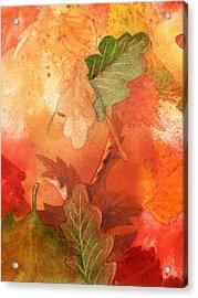 Fall Impressions V Acrylic Print by Irina Sztukowski