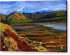 Fall In Alaska Acrylic Print by Vidyut Singhal