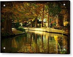 Fall In San Antonio Acrylic Print by Iris Greenwell