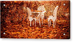 Fall In The Garden Acrylic Print by Maggie Terlecki