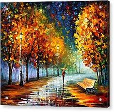Fall Marathon Acrylic Print by Leonid Afremov