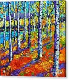 Fall Mood Acrylic Print by Mona Edulesco