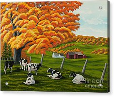 Fall On The Farm Acrylic Print by Charlotte Blanchard