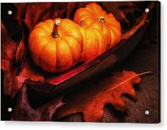 Fall Pumpkins Still Life Acrylic Print by Tom Mc Nemar