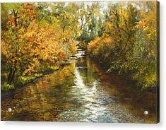 Fall Reflections Acrylic Print by Jan Hardenburger
