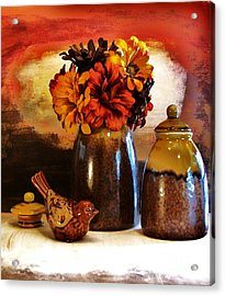 Fall Still Life Acrylic Print by Marsha Heiken