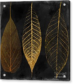 Fallen Gold II Autumn Leaves Acrylic Print by Mindy Sommers