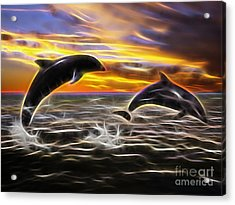 Falling In Love Acrylic Print by Marvin Blaine