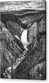 Falling Yellowstone IIi Acrylic Print by Jon Glaser
