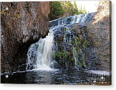 Falls On Onion River Acrylic Print by Sandra Updyke