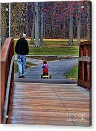 Family - A Father's Love Acrylic Print by Paul Ward