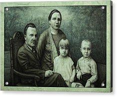 Family Portrait Acrylic Print by James W Johnson