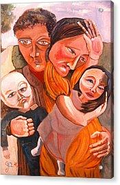 Family Struggle Acrylic Print by John Keaton