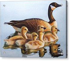 Family Time Acrylic Print by Greg and Linda Halom