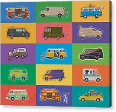 Famous Vans Acrylic Print by Mitch Frey