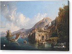 Fanciful View Of The Harbour  Acrylic Print by MotionAge Designs
