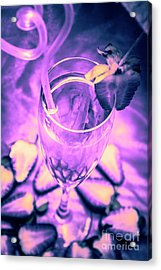 Fancy Champagne With Sliced Strawberries Acrylic Print by Jorgo Photography - Wall Art Gallery