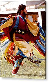 Fancy Shawl Dancer Acrylic Print by Terril Heilman