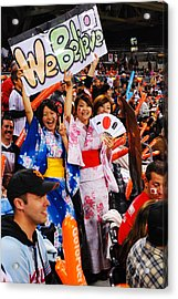 Fans Of Japan Acrylic Print by James Kirkikis