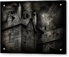 Fantasy - Haunted - It Was A Dark And Stormy Night Acrylic Print by Mike Savad