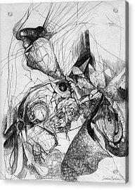 Fantasy Drawing 1 Acrylic Print by Svetlana Novikova