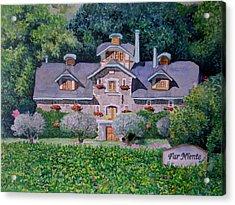 Far Niente Winery Acrylic Print by Gail Chandler