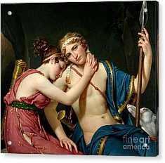 Farewell Of Telemachus And Evharidy Acrylic Print by David Jacques