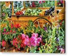 Farm - Food - At The Farmers Market Acrylic Print by Mike Savad
