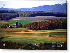 Farm Near Klingerstown Acrylic Print by USDA and Photo Researchers