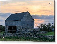Farm Sunset Acrylic Print by Bryan Bzdula