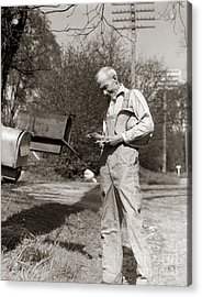Farmer Checking Mailbox, C.1930s Acrylic Print by H. Armstrong Roberts/ClassicStock
