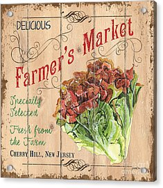 Farmer's Market Sign Acrylic Print by Debbie DeWitt