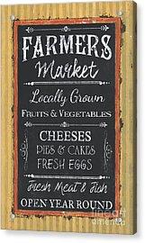 Farmer's Market Signs Acrylic Print by Debbie DeWitt