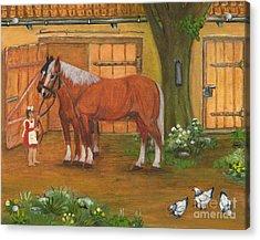Farmyard Acrylic Print by Anna Folkartanna Maciejewska-Dyba