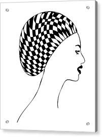 Fashion Illustration Acrylic Print by Frank Tschakert