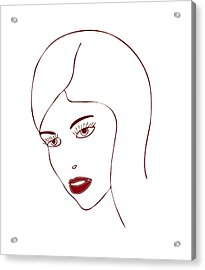 Fashion Model Acrylic Print by Frank Tschakert