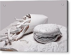 Fast Food - Burger And Fries Acrylic Print by Tom Mc Nemar