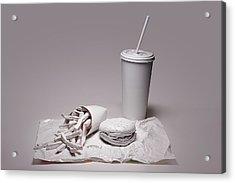 Fast Food Drive Through Acrylic Print by Tom Mc Nemar